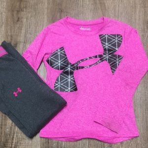 Under Armour top and pants.